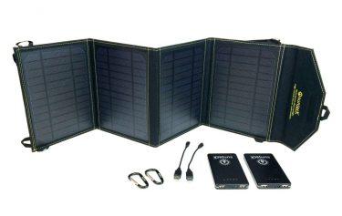 solar powerbank met losse zonnecel